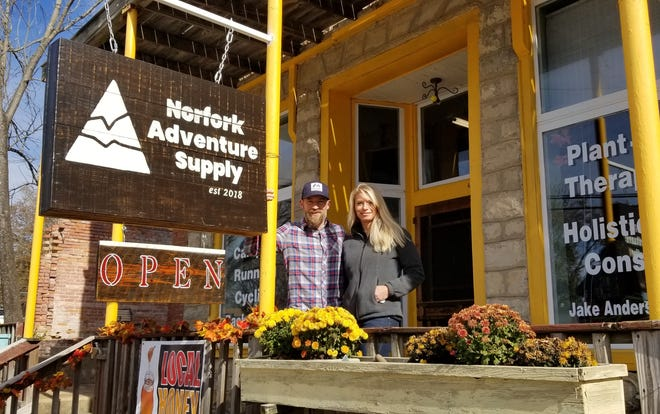 Jake and Melony Anderson recently opened Norfork Adventure Supply in downtown Norfork. The store offers a variety of outdoors equipment, as well as supplements and locally produced items like honey and bread.