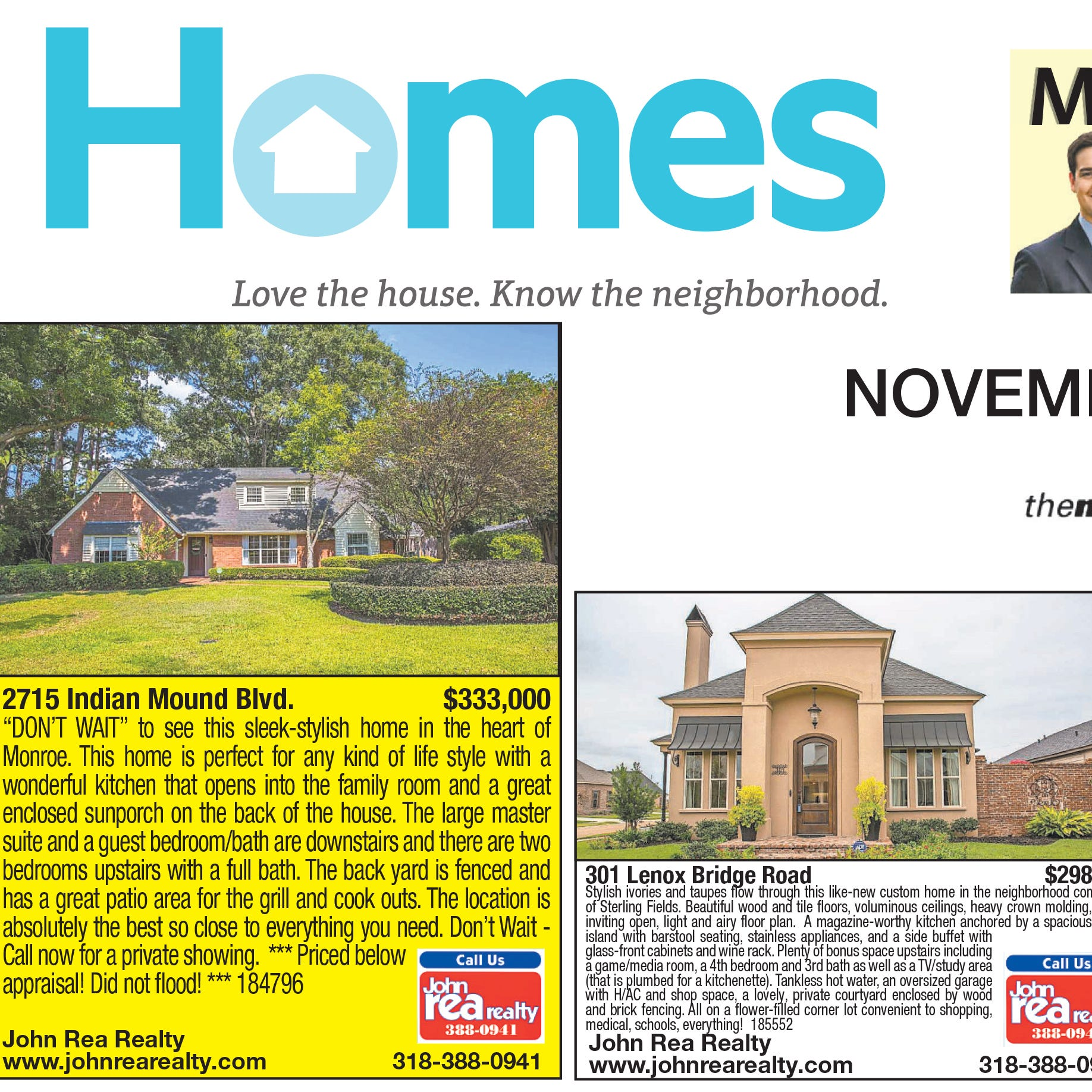 Homefinder: Nov. 18, 2018