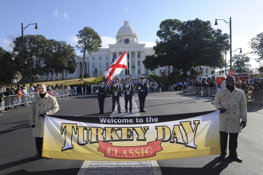 The Turkey Day Classic Parade is held in downtown Montgomery every year on Thanksgiving Day.