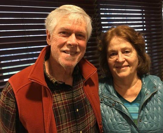 Solar energy advocates John and Carolyn Vann