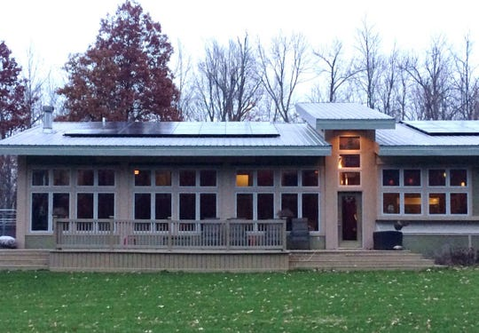 One of more than 40 houses that have had solar panels added to their roofs in East Central Indiana through Solarize ECI.