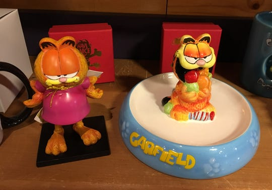 Garfield statues can be found at Minnetrista's Orchard Shop. Garfield creator Jim Davis is from Muncie.