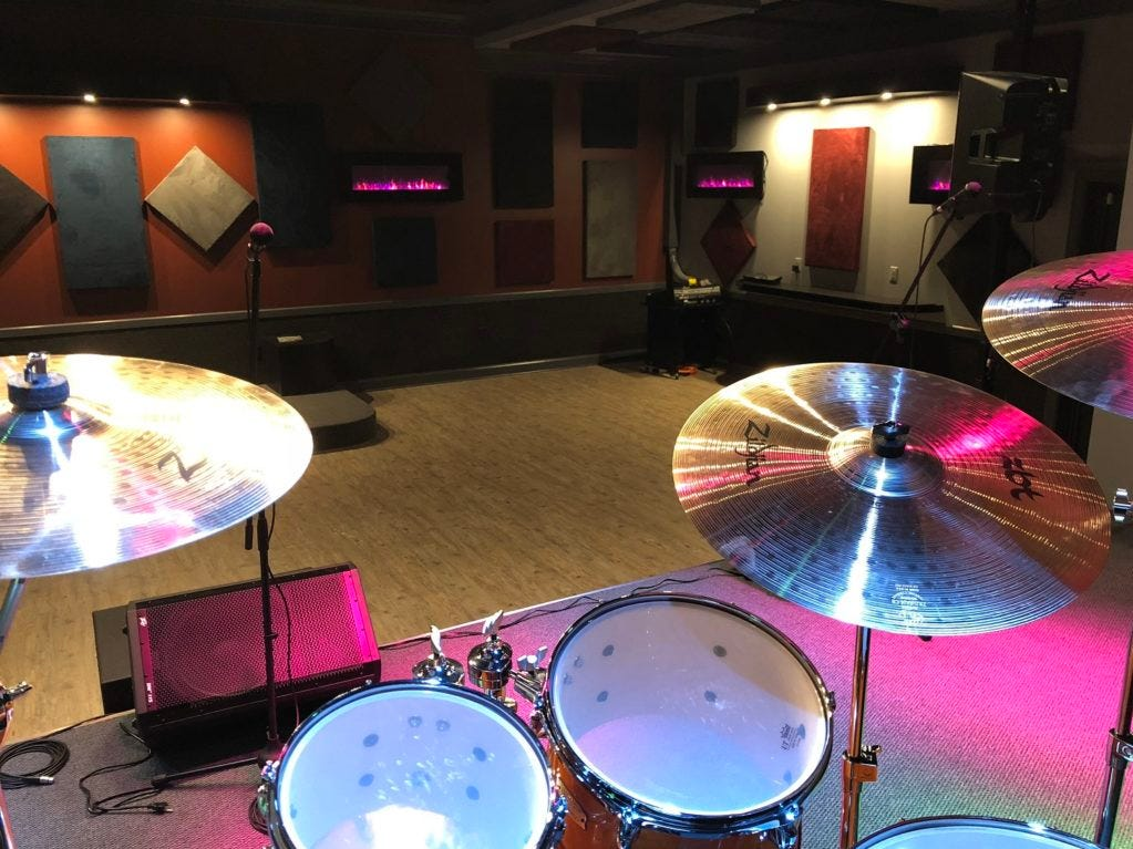 In addition to rehearsal rooms to rent, Ridenour Rehearsal Studios at 1203 Park Ave. in Murfreesboro has a live music venue where bands can hold concerts or people can rent for parties.