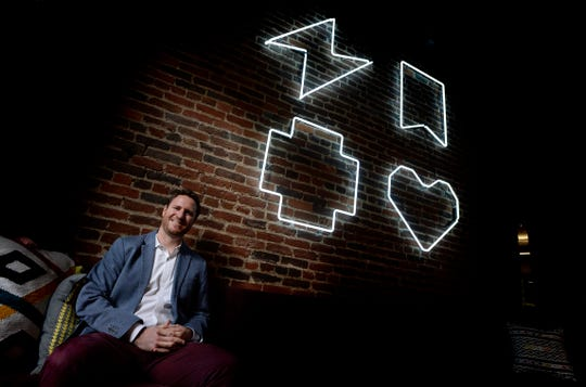 Lyft General Manager Sam Nadler at his office in the Sash & Door office building on Tuesday, Nov. 20, 2018, in Nashville, Tenn. The San Francisco-based ridesharing company has more than 750 people working for it in Nashville.
