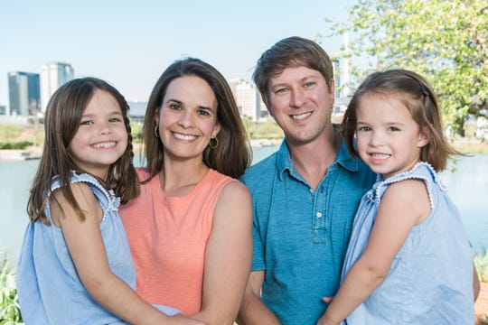 Wyndy co-founders Tommy and Ginger Mayfield with their two daughters.