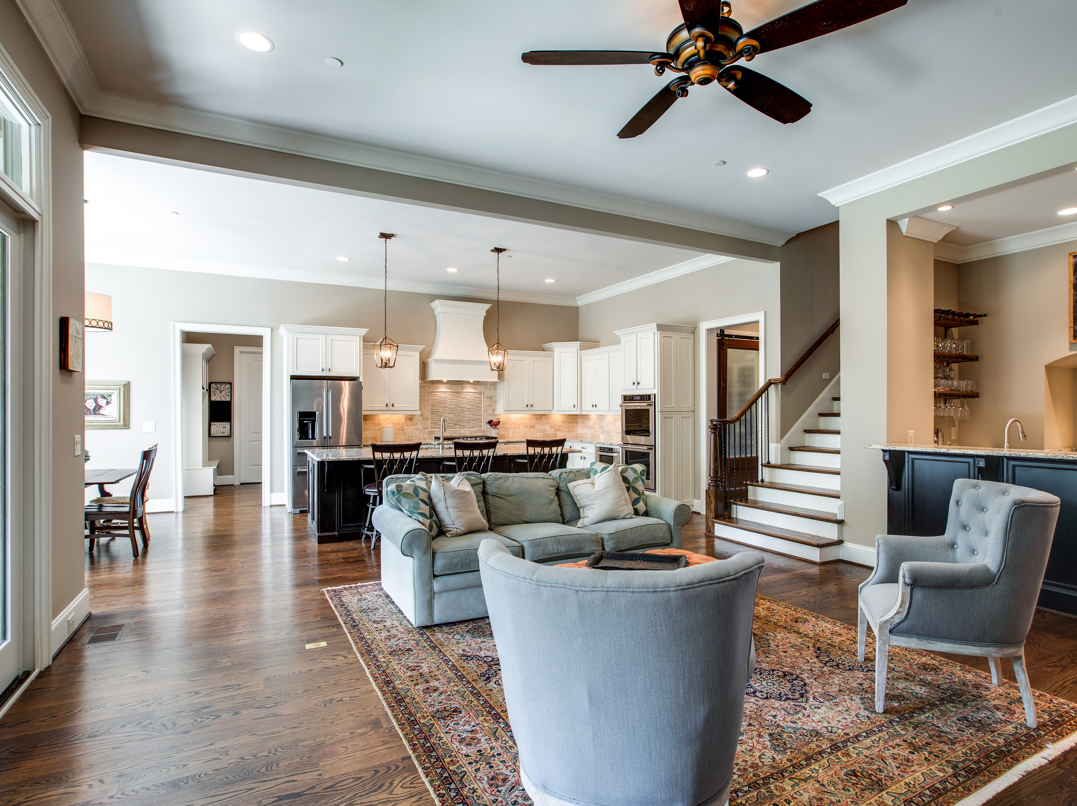 This home for sale at the Reserve at Echo Estates in Franklin has a wine area woven into the home's main living area.