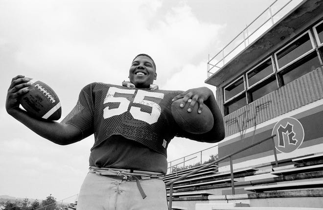 McGavock center Leon Baxter, a 300-pound college prospect, who died in his freshman year at Tennessee, is among the greatest 100 high school football players of all-time.