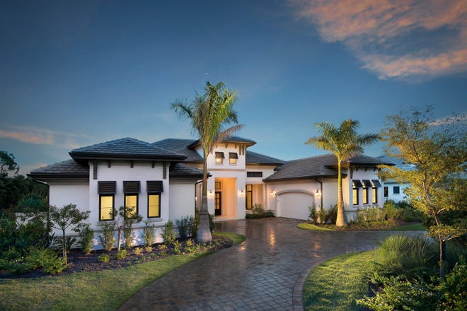 The Windsor III by Stock Signature Homes is one of four inventory homes available in Quail West.