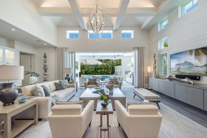 The Watlington custom estate home by London Bay has four bedroom, a study and a second-floor bonus room.