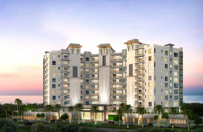 The Grandview at Bay Beach luxury high-rise on Fort Myers Beach is named for its views of the Gulf of Mexico, Estero Bayand sunsets.