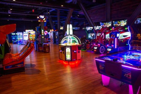 Arcade games inside the new JW Marriott Marco Island Beach Resort's 10K Alley on Tuesday, Nov. 20, 2018.