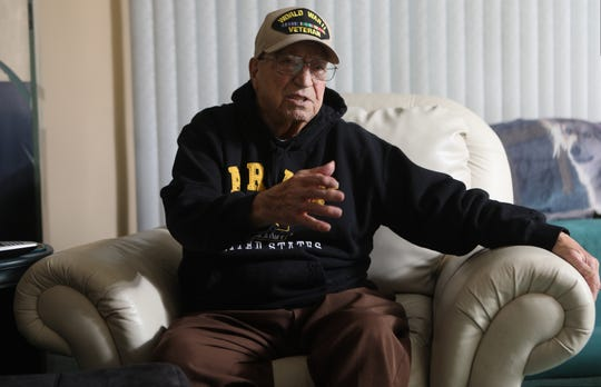 Vito Trause, 93, of Washington Township in Bergen County is a World War II veteran. Trause, who enlisted in the Army in 1943 at the age of 18, when he lived in Carlstadt, was a resident of Lincoln Street, which will be renamed in his honor. Here he speaks to The Record about his years in the Army and living in Carlstadt. Tuesday, November 20, 2018