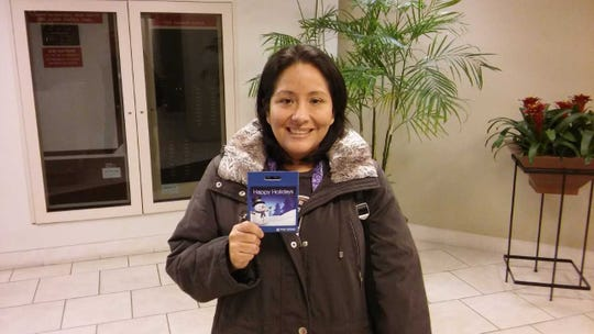 "Elizabeth Lee of New Milford felt ""super-blessed and grateful"" to win a gift card from The Record and NorthJersey.com"