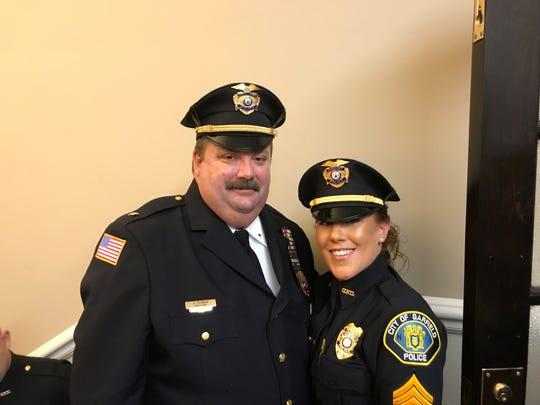 Deputy Chief Ronald Polonkay and Sergeant Claire Follari