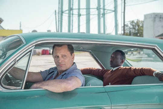 "Viggo Mortensen and Mahershala Ali star in ""Green Book."""