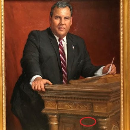 There's something very Jersey hidden in Chris Christie's official portrait you may miss