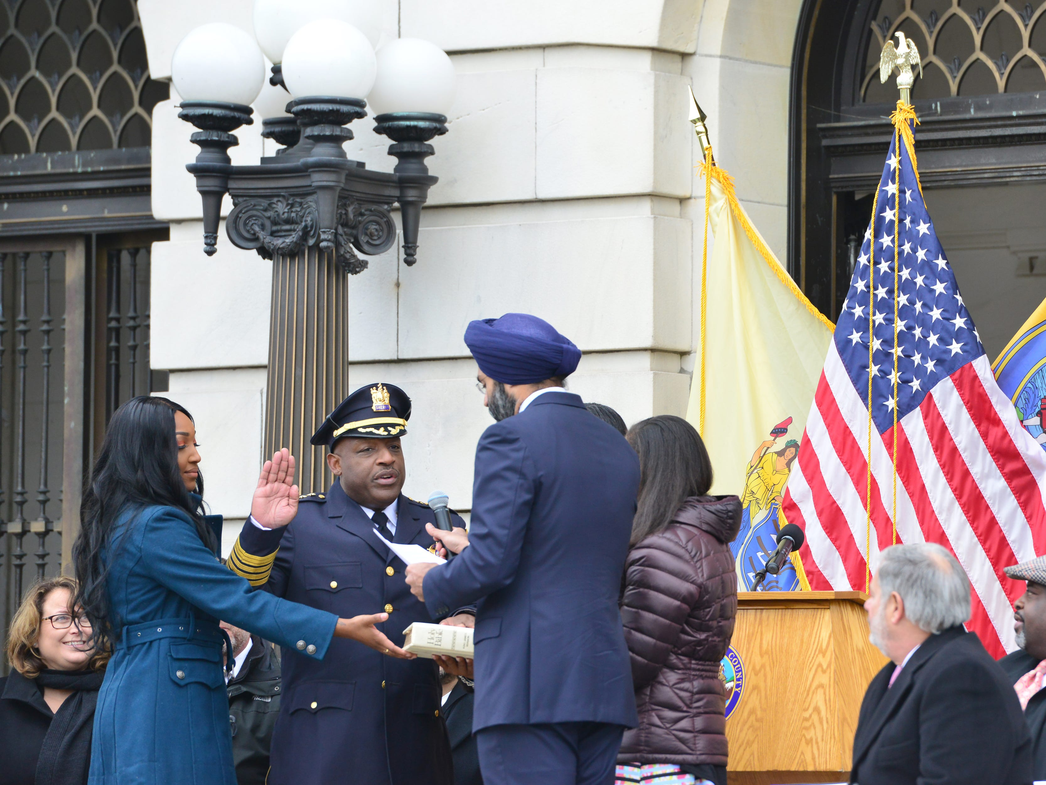Bergen County swears in first elected African-American sheriff