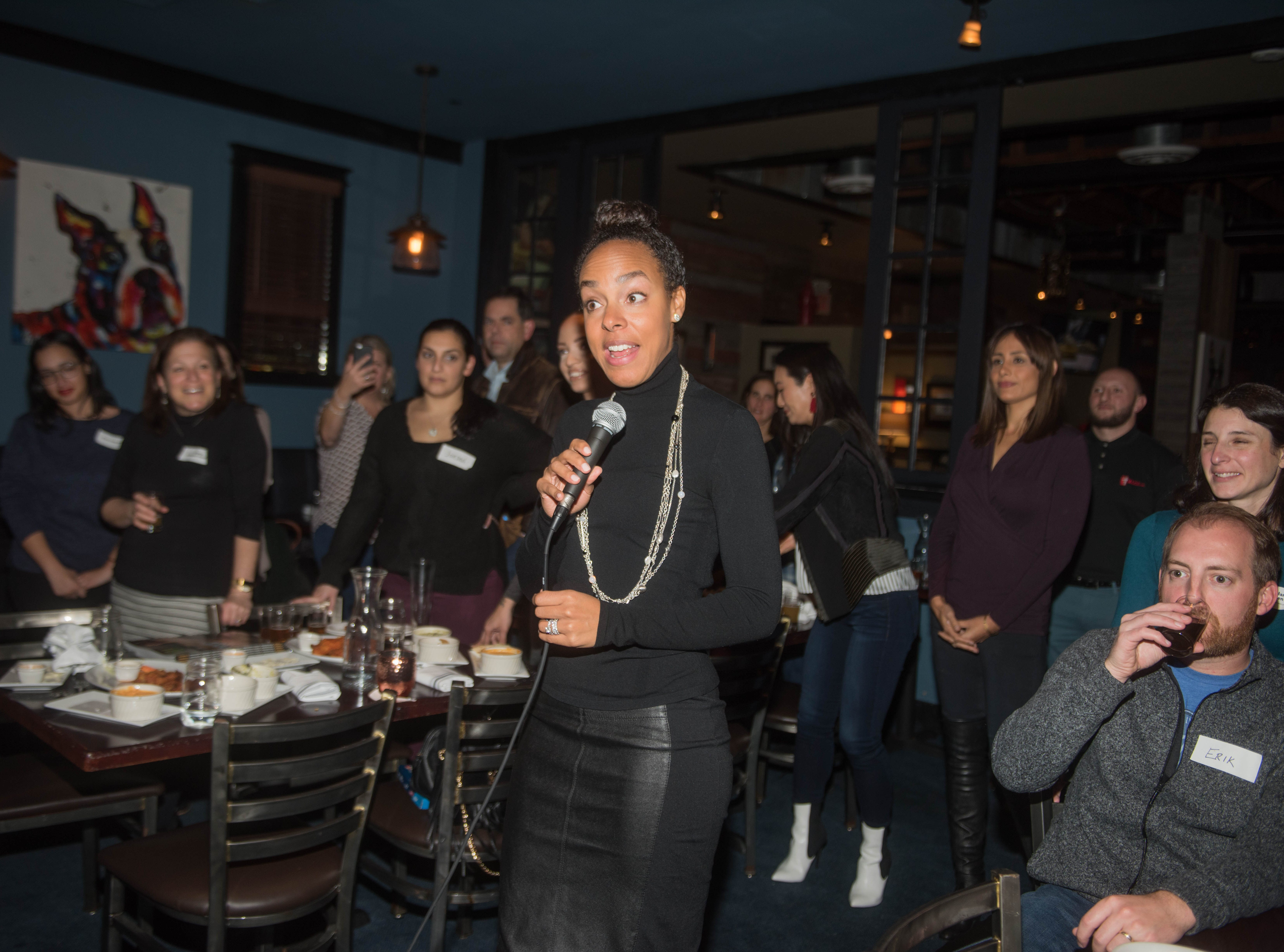 Lauran Tuck. (201) Magazine and NorthJersey.com held Taste Test Tuesday at he Dog and Cask in Rochelle Park with this months cover model, Lauran Tuck and former cover model and former NY Giant Justin Tuck. 11/13/2018