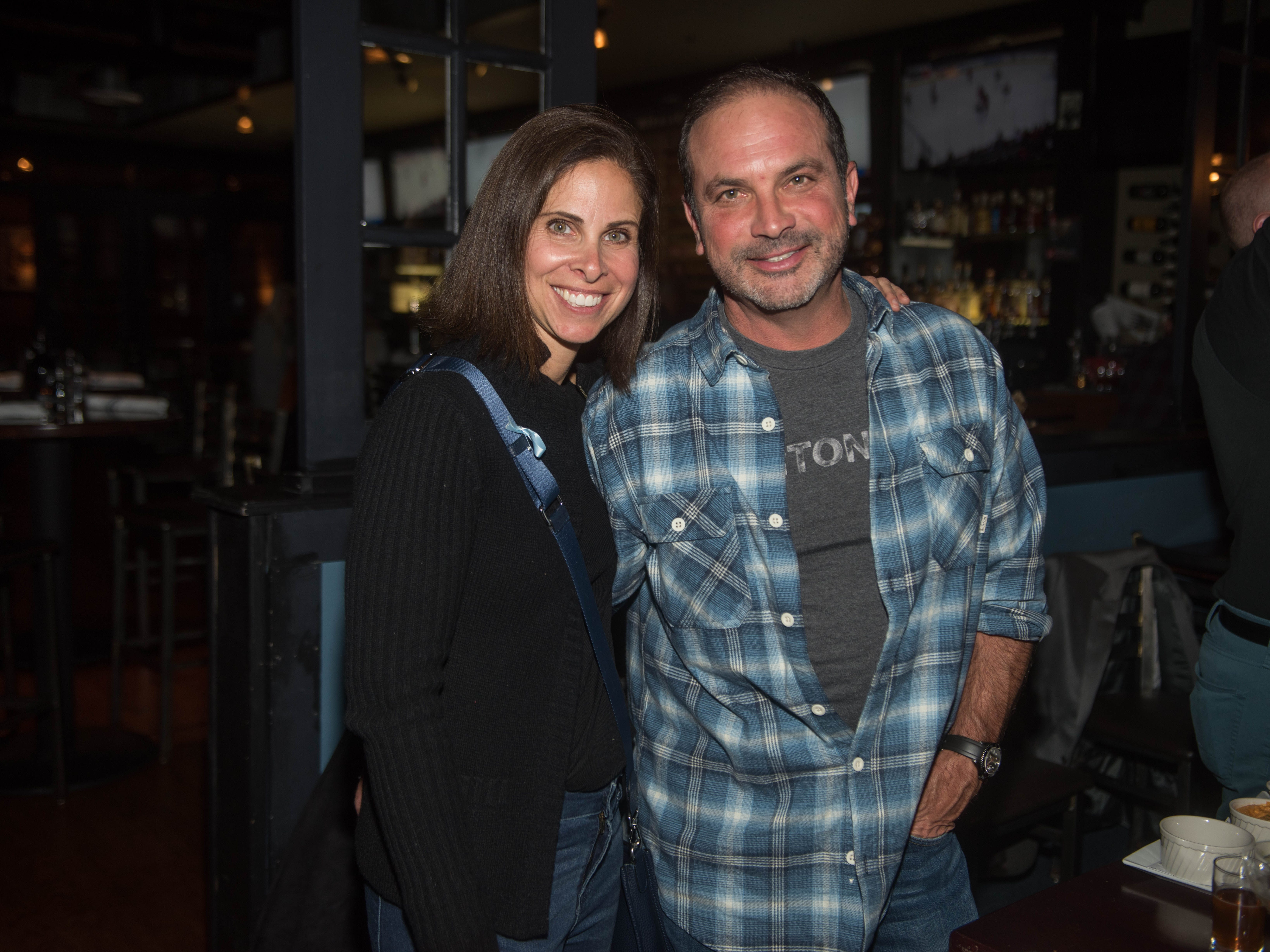 T.H. Waldman and Frank DeCarlo. (201) Magazine and NorthJersey.com held Taste Test Tuesday at he Dog and Cask in Rochelle Park with this month's cover model, Lauran Tuck and former cover model and former NY Giant Justin Tuck. 11/13/2018