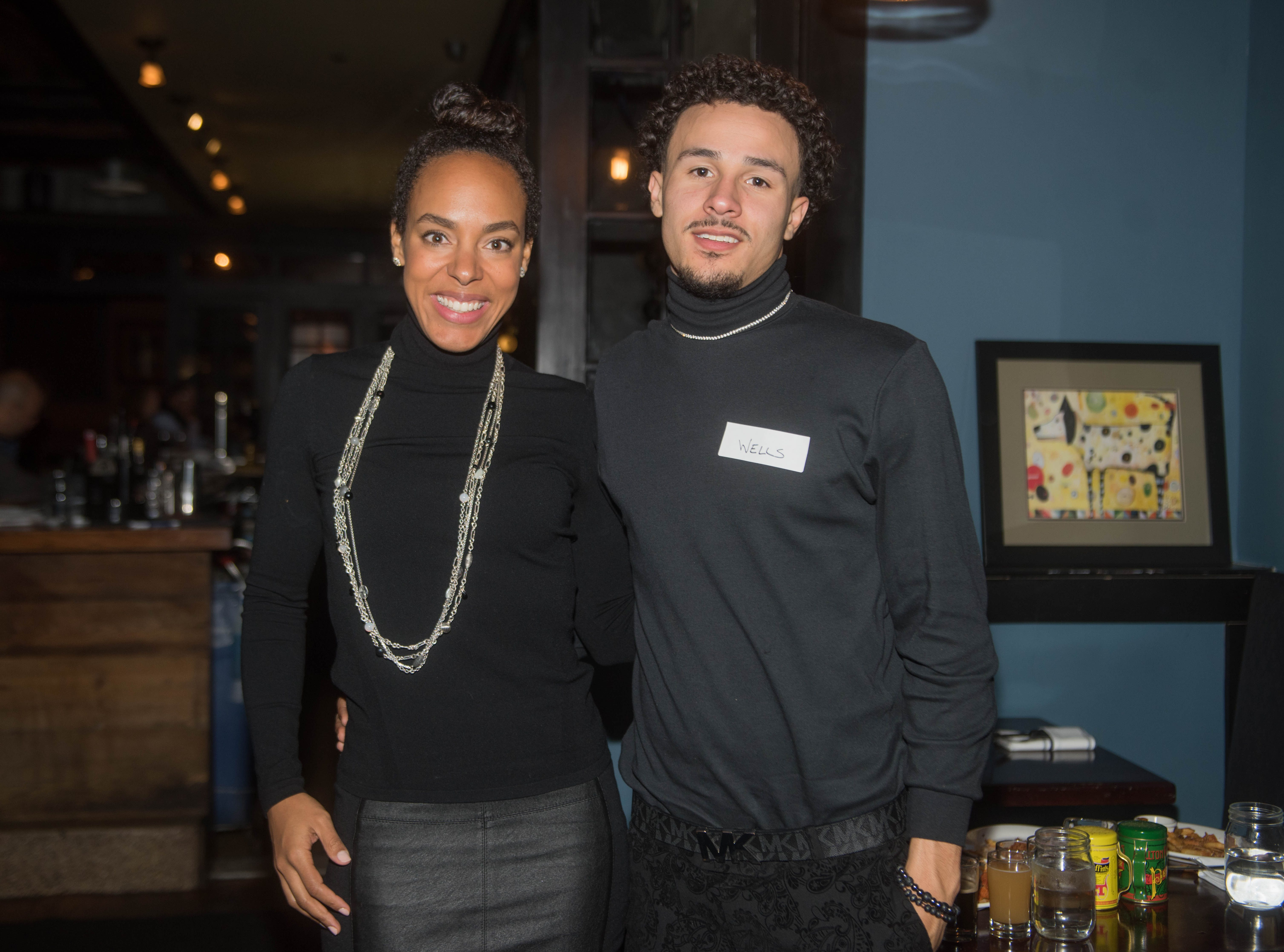 Lauran Tuck and Wells. (201) Magazine and NorthJersey.com held Taste Test Tuesday at he Dog and Cask in Rochelle Park with this month's cover model, Lauran Tuck and former cover model and former NY Giant Justin Tuck. 11/13/2018