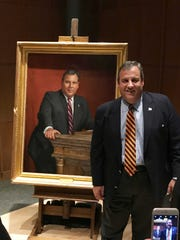 Chris Christie portait unveiling Monday evening in Princeton NJ, November 19, 2018.