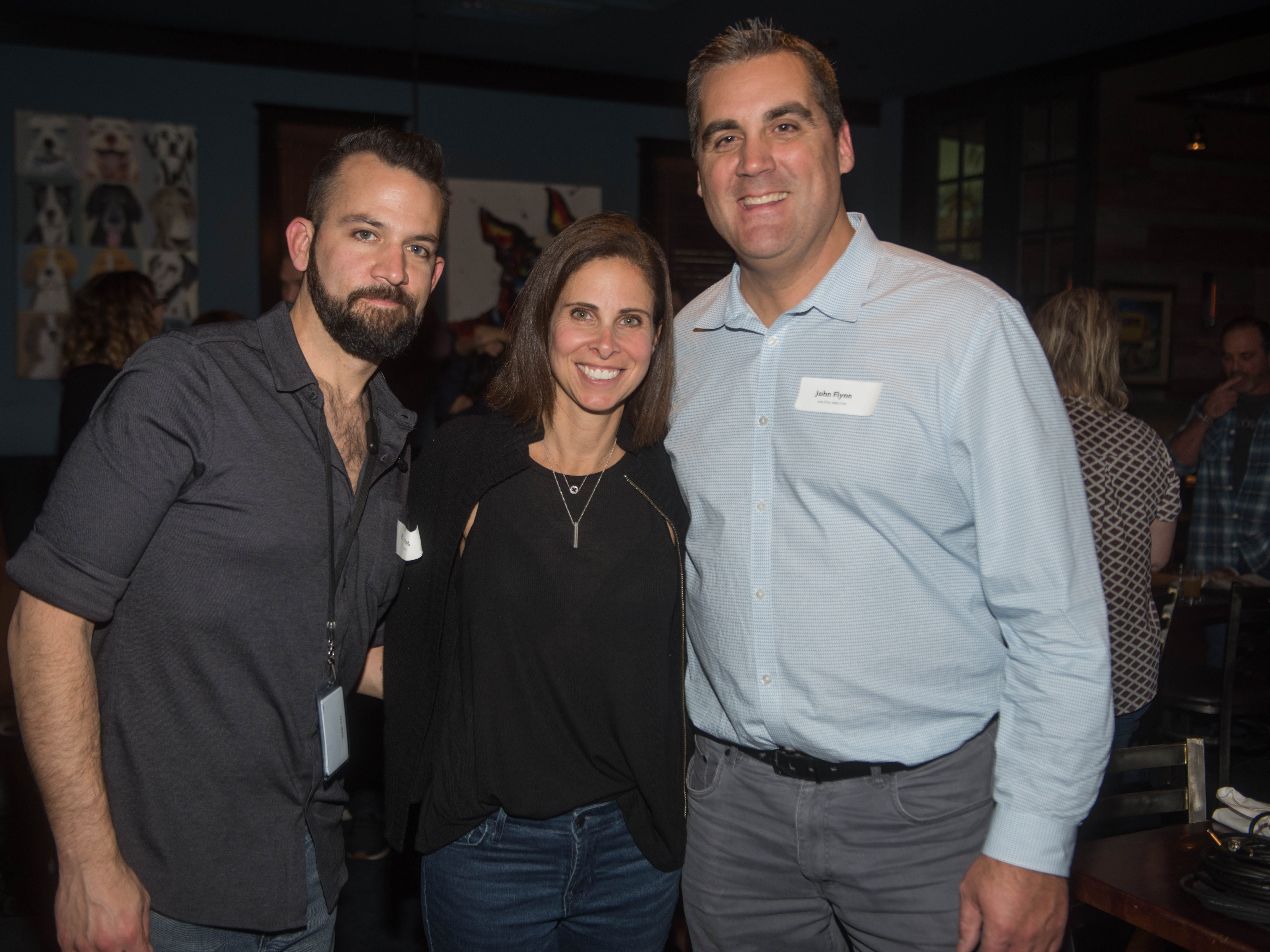 Paul Wood, T.H. Waldman and John Flynn. (201) Magazine and NorthJersey.com held Taste Test Tuesday at he Dog and Cask in Rochelle Park with this month's cover model, Lauran Tuck and former cover model and former NY Giant Justin Tuck. 11/13/2018