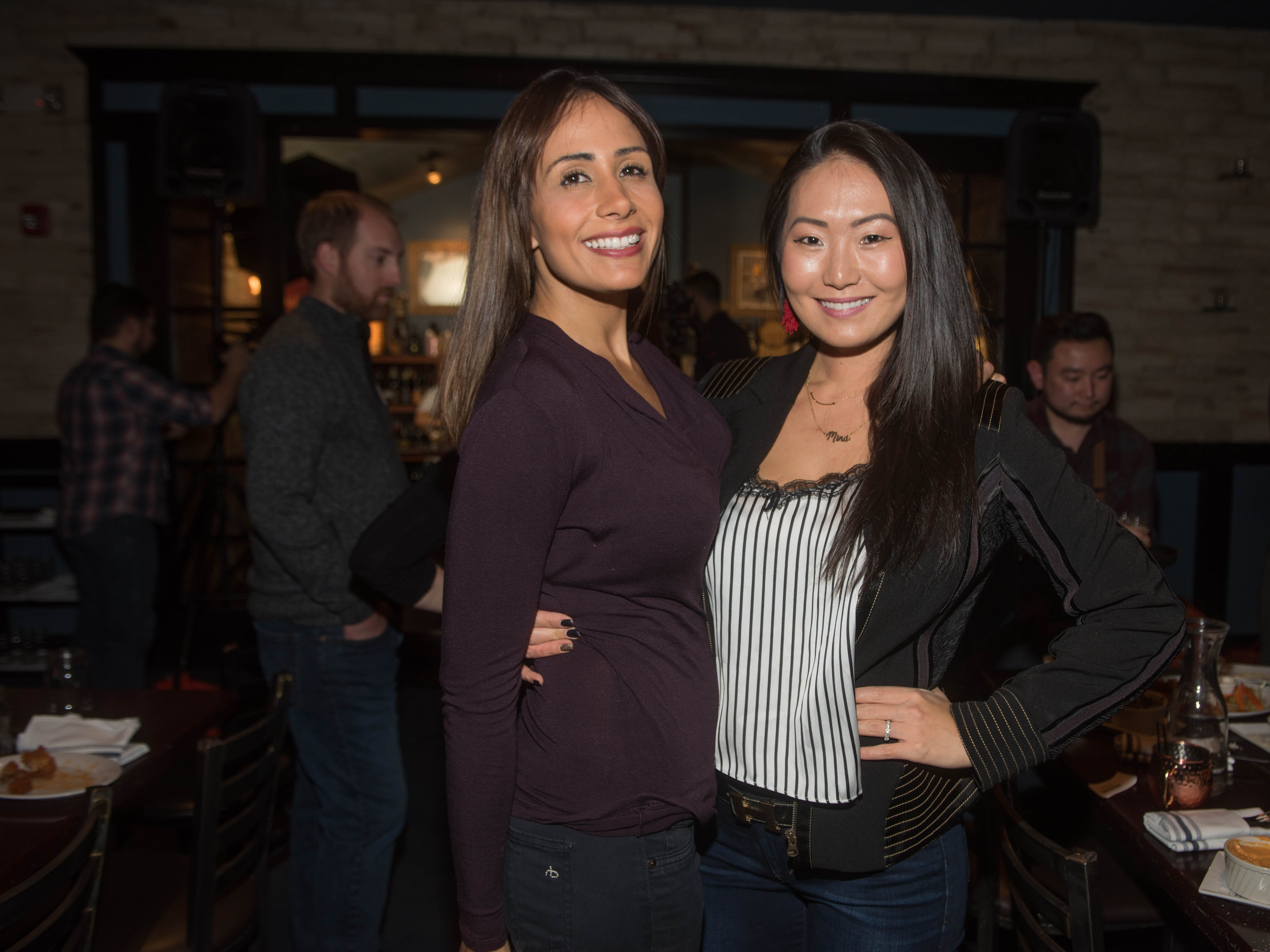 Cate Holahan and Mina Barany. (201) Magazine and NorthJersey.com held Taste Test Tuesday at he Dog and Cask in Rochelle Park with this month's cover model, Lauran Tuck and former cover model and former NY Giant Justin Tuck. 11/13/2018