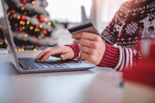 Women Shopping Online During Christmas