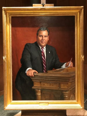Chris Christie portrait, painted by an award-winning Australian artist.