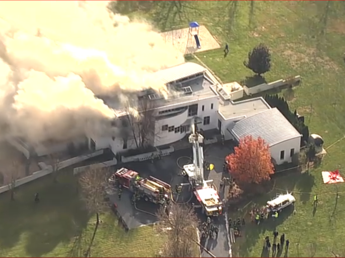 Multiple people were found dead as a fire burned at an estate in Colts Neck, NJ on Tuesday, Nov. 20, 2018. Reports said one of the bodies had been shot.