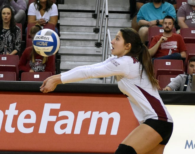 New Mexico State's Briana Ainsworth and the Aggies open the WAC Tournament on Friday as the No. 2 seed.