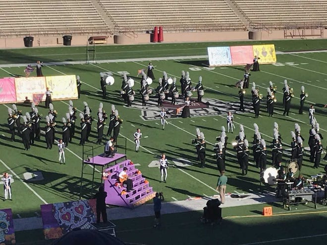 The Oñate High School Royal Knight Regiment marching band finished in third place overall and received the coveted Gregg Randall Award of Excellence for New Mexico's top band at the Tournament of Bands held Oct. 27 at New Mexico State University.