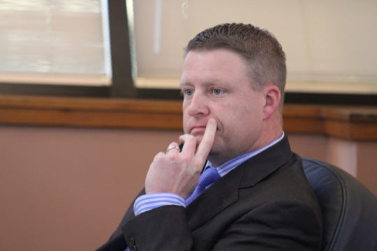 Jon Henry, Nov. 20,2018, at a meeting of the Eddy County Board of Commissioners.