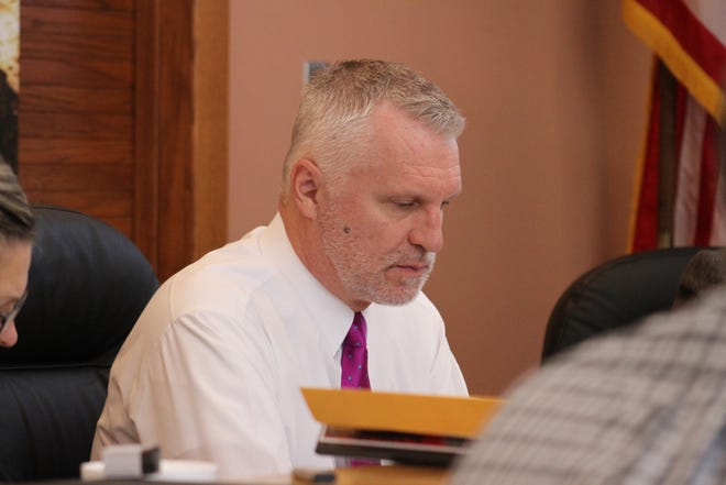 Rick Rudometkin, Nov. 20, at a meeting of the Eddy County Board of Commissioners.