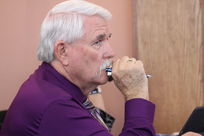 Kenney Rayroux, Nov. 20, at a meeting of the Eddy County Board of Commissioners.