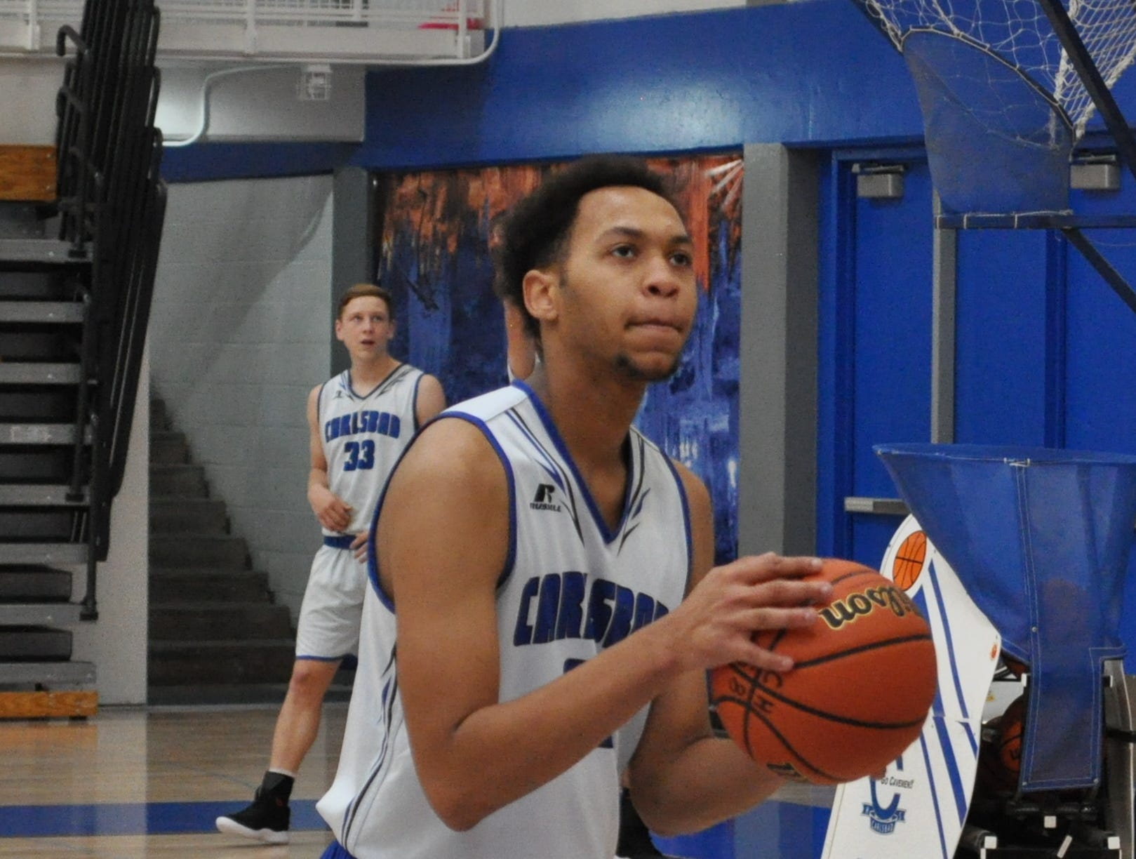 Phillip Lee during Tuesday's practice. Carlsbad opens the season Nov. 29 in Santa Fe as part of the Capital Tournament.