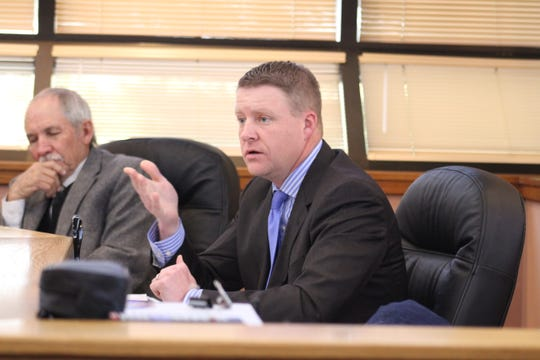 John Henry, Nov. 20, at a meeting of the Eddy County Board of Commissioners.