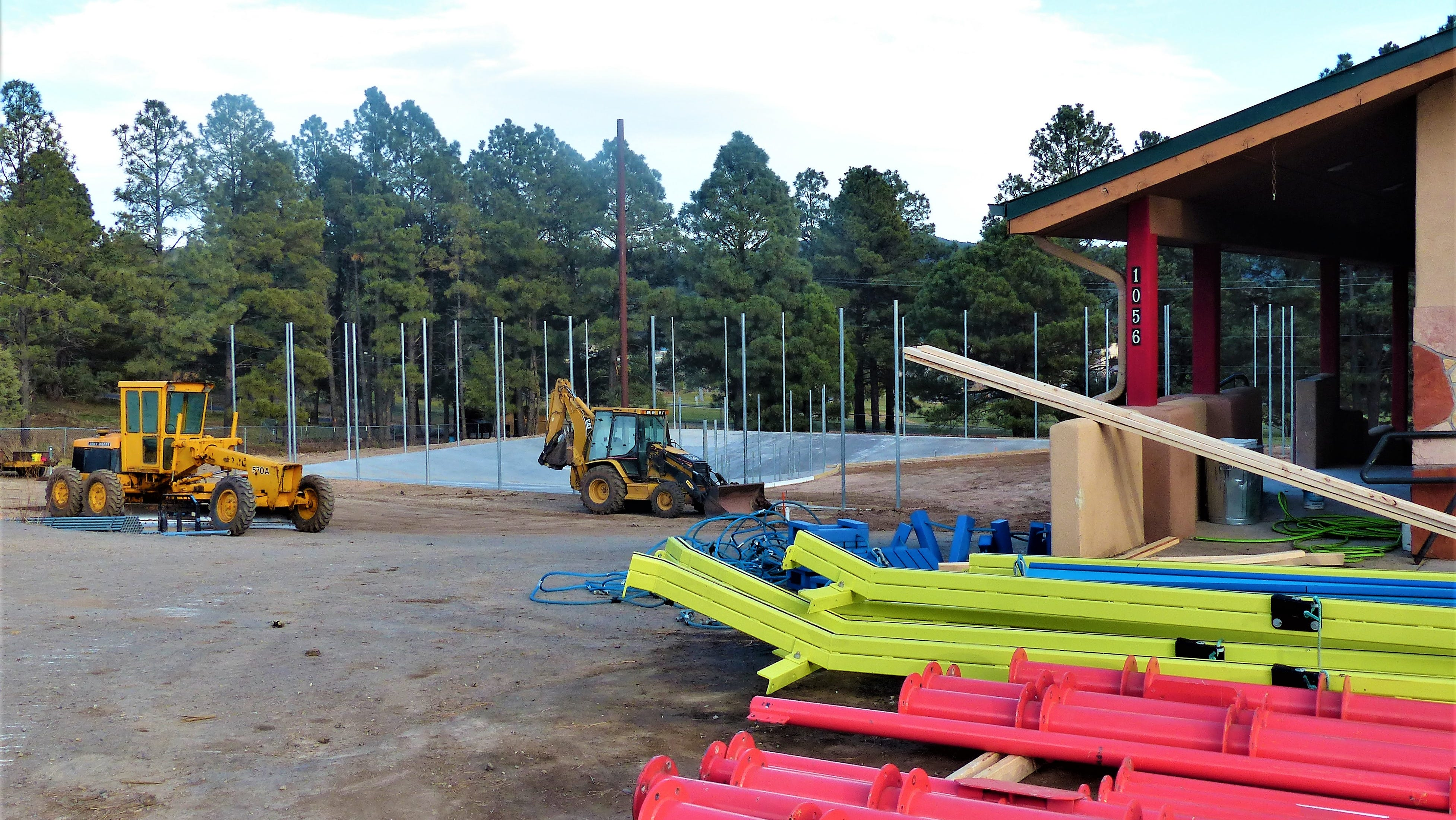 Work is underway at the recreation site on Mechem, former site of a home improvement and equipment rental store.
