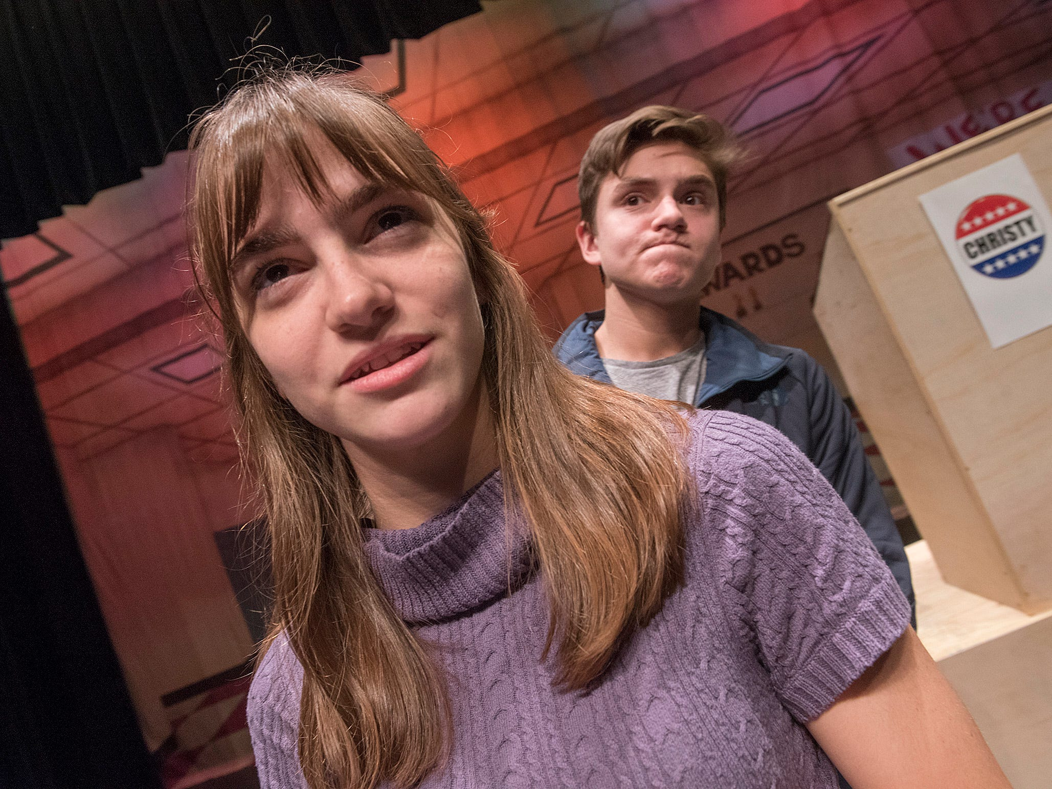 In and effort to seem cool and get votes, Mark (Ben Corsi) hires Sasha (Emma Miesner) a girlfriend, but her efforts to sell him to the student body only make the situation worse.