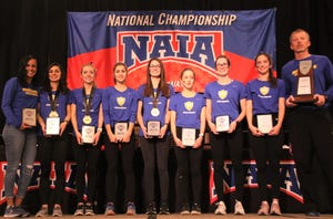 The Madonna University women's cross country team took NAIA runner-up honors on Nov. 16 in Cedar Rapids, Ia.