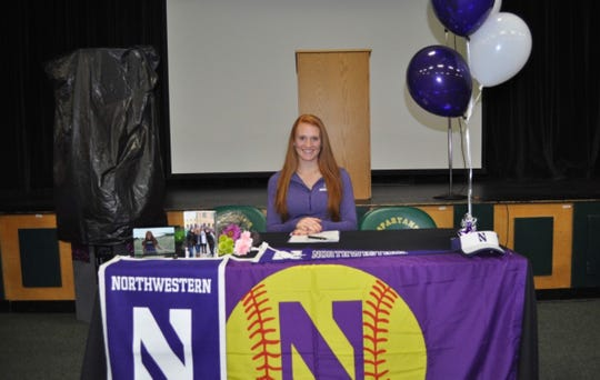 Oshkosh North senior Sydney Supple signed her letter of intent to play softball at Northwestern University
