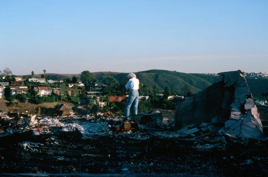 My mother, agonizing over the destruction of the Laguna Canyon fire, where we also find a lot of view homes with glass burned to the ground.