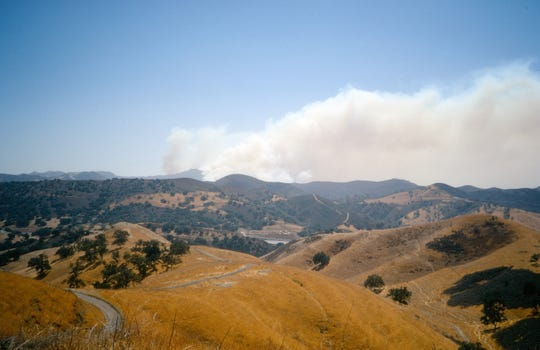 My Dad's 50-year-old photo looks over the 101 to the first Malibu Canyon fire just as it was starting up.
