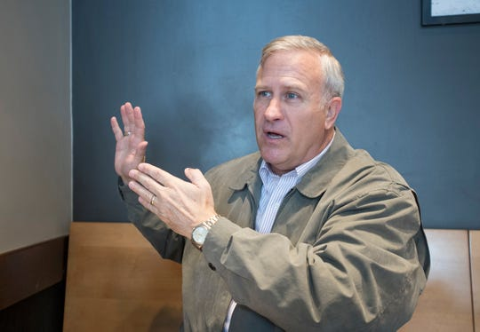 Gulf Breeze Mayor-elect David Landfair talks about plans for his administration in Gulf Breeze on Tuesday, November 20, 2018. The mayor announced his resignation on Jan. 18, 2019.