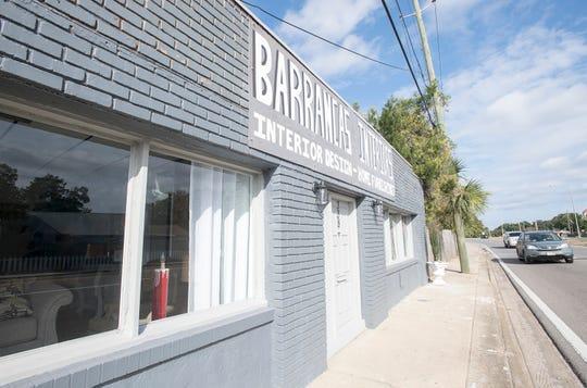 Exterior of the new Barrancas Interiors on Barrancas Avenue in Pensacola on Tuesday, November 20, 2018.