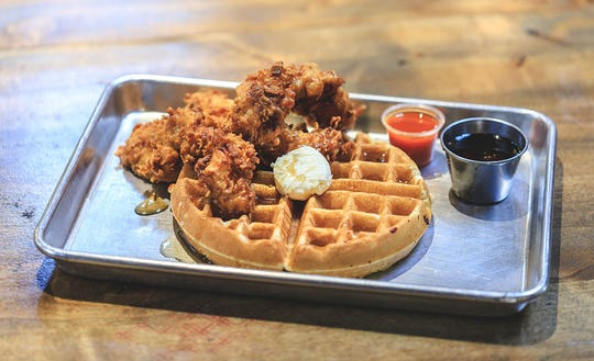 The Root and Soul serves gourmet soul food including fried chicken and waffles.