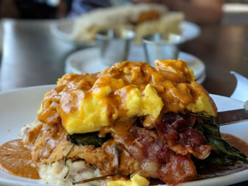 The Haymaker Benedict at Haymaker.