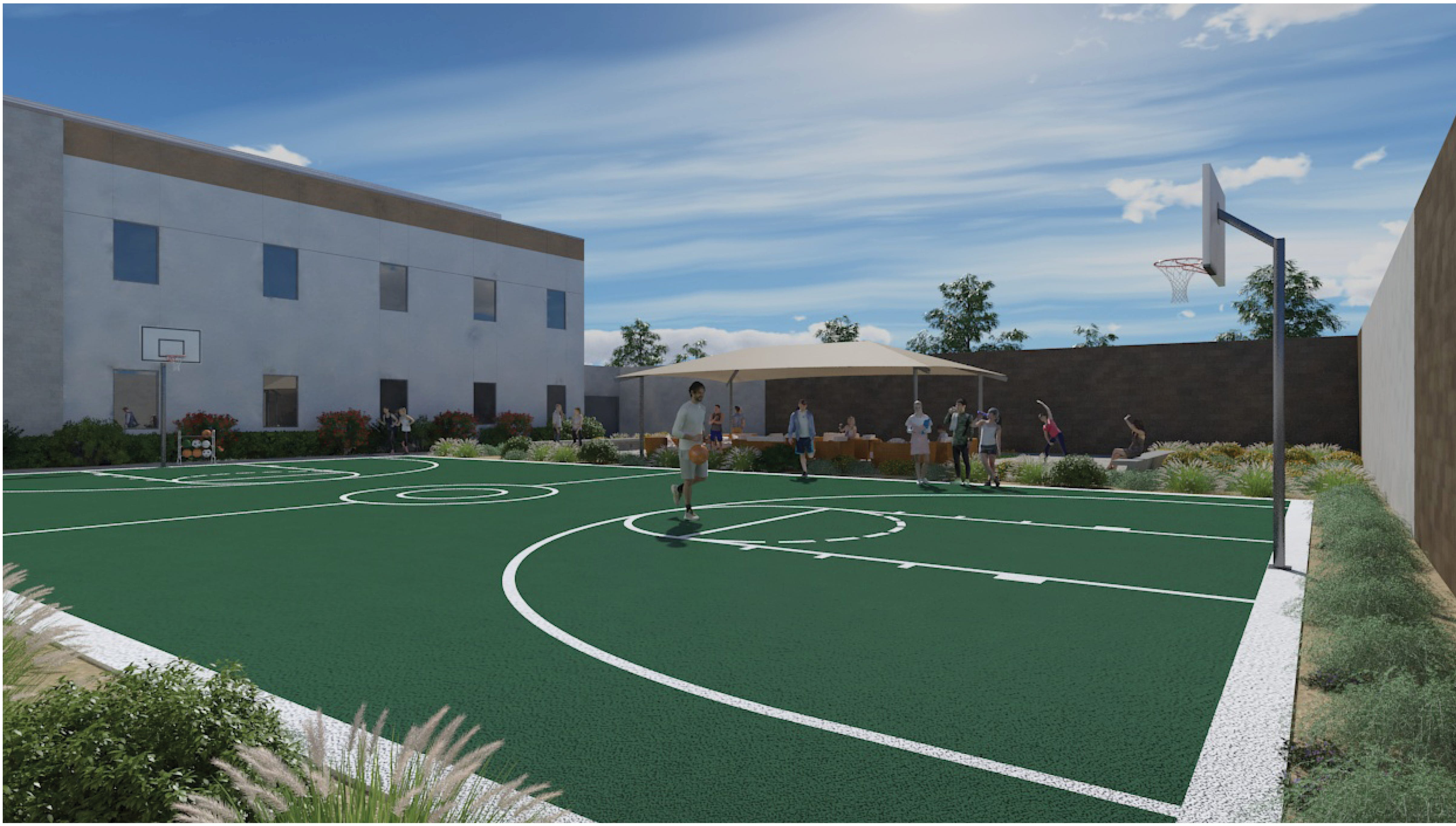 A rendering of the courtyard at Destiny Springs Behavioral Health Hospital opening in Surprise in December 2018.