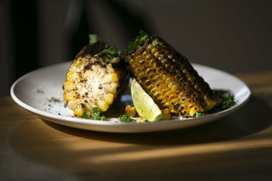 Vegan street corn at Bri restaurant in Phoenix on Nov. 12, 2018.