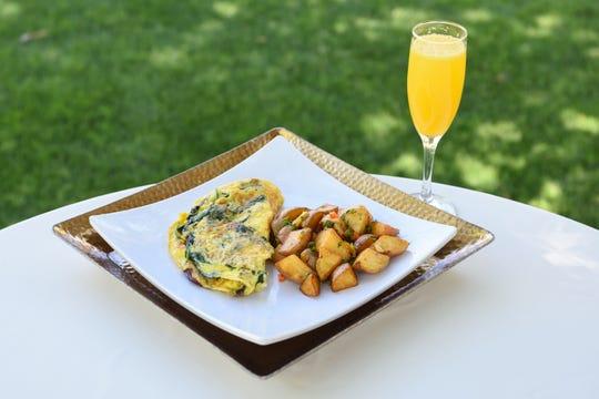 The farmer's omelet at Palette at Phoenix Art Museum.